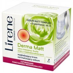 Lirene Derma Matt // Wygladzajacy krem normalizujacy sebum na noc // Cera mieszana,tlusta oraz z niedoskonalosciami