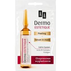AA DERMO ESTETIQUE// Peeling + serum mask// Ekspresowe Wygladzenie