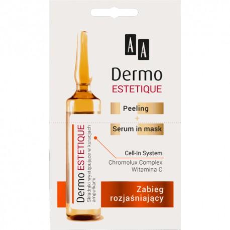 AA DERMO ESTETIQUE// Peeling + serum mask// Zabieg rozjasniajacy