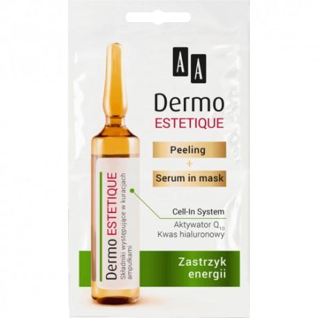 AA DERMO ESTETIQUE// Peeling + serum mask// Zastrzyk Energii