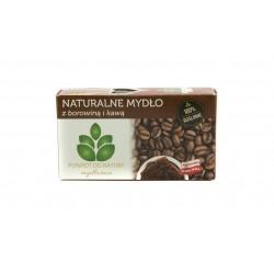 Naturalne mydlo Z BOROWINA I KAWA, 100 % roslinne, Mydlarnia Powrot do natury