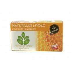 Naturalne mydlo z WOSKIEM PSZCZELIM, 100% roslinne, Mydlarnia Powrot do natury
