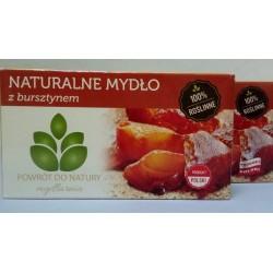 Naturalne myslo z BURSZTYNEM, 100 % roslinne, Mydlarnia Powrot do natury