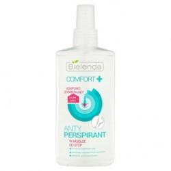 Bielenda Comfort + / Antyperspirant w mgielce do stop / Zmniejsza wydzielanie potu, zapobiega nieprzyjemnemu zapachowi, odswieza