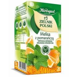 Herbata Herbapol MELISA z POMARANCZA // 100% natury z duzych kawalkow owocow / 20 szt