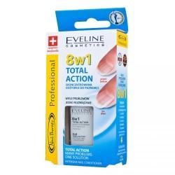 EVELINE Total Action 8 w 1 //  Skoncentrowana odzywka do paznokci
