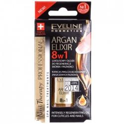 Eveline ARGAN ELIXIR 8w1 Luksusowy olejek do regeneracji skorek i paznokci /Kuracja zwalczajaca 8 oznak zniczonych paznokci