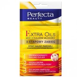 Perfecta EXTRA OILS/Moc 4 Olejkow Mlodosci/ 3-Etapowy Zabieg/ Efekt Sauny Parowej