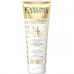 Eveline 24k Gold // Lususowe serum liftingujace do biustu // Volume push-up do 2,5cm // 98% kobiet potwierdza efekt w 14 dni