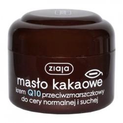 ZIAJA MASLO KAKAOWE Krem Q10 przeciwzmarszczkowy/ Do cery normalnej i suchej / 50ml