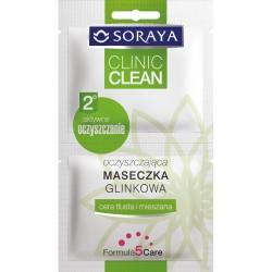 SORAYA Clinic Clean// Oczyszczajaca maseczka Glinkowa// Cera tlusta i mieszana