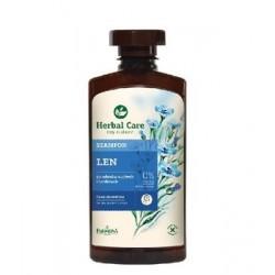 Farmona Herbal Care // Szampon LEN do wlosow suchych i lamliwych / 0% barwnikow,parabenow, alkoholu etylowego