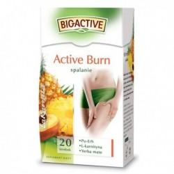 BIG-ACTIVE ACTIVE BURN spalanie // Pu-erh, L-karnityna, Yerba-mate // Herbata czerwona pu-erh o smaku brzoskwiniowo-ananasowym