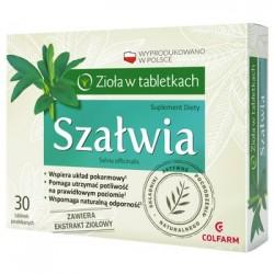 SZALWIA Ziola w tabletkach // Wspiera uklad pokarmowy,pomaga utrzymac poltiwosc na prawidlowym poziomie,wspomaga odornosc