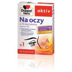 Doppelherz aktiv NA OCZY// 15 mg luteiny, Zeaksantyna z kwiatow aksamitki, Cynk, Witaminy A+C+E