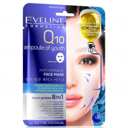 Eveline Q10 ampoule of youth// ANTI-WRINKLE face mask// 8in1 Multi Action