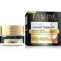 Eveline ROYAL CAVIAR THERAPY 40+// Wrinkle Reducing Cream-Concentrate// Nep-Dna Complex, Retinol , Black Orchid