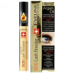 Eveline SOS Lash Booster// Argan Oil- Multifunkcyjne serum do rzes 5 w 1 z olejkiem arganowym