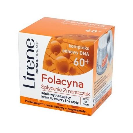 Lirene FOLACYNA 60+// Silnie Wygladzajacy Krem na dzien do twarzy i na szyje
