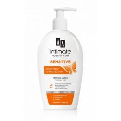 AA Intymna SENSITIVE // Emulsja do higieny intymnej // Kojenie i ochrona // kwas mlekowy, ph fizjolog., D-pantenol, betaina