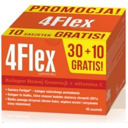 4 FLEX Kolagen nowej generacji+witamina C / zawiera Fortigel-kolagen naturalnego pochodzenia / 30 saszetek z proszkiem