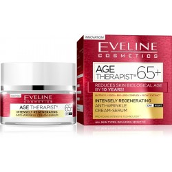 EVELINE AGE THERAPIST 65+// Intensely Regenerating, Anti-Wrinkle, Cream-Serum// Day, Night