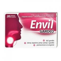 Envil Gardlo// Bol gardla, stany zapalne jamy ustnej i gardla, pomocniczo w anginie// 20 tabletek do ssania