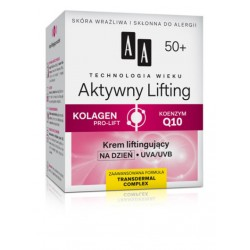 AA TW Aktywny Lifting 50+ // Krem liftingujacy na dzien // Kolagen pro-lift + Koenzym Q10