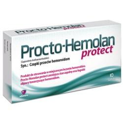 Procto-Hemolan Protect. Czopki przeciw hemoroidom// Produkt do stosowania w miejscowym leczeniu hemoroidow// 10 sztuk