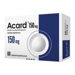 Acard 150 mg// Tabletki dojelitowe 150 mg// 30 tabletek dojelitowych