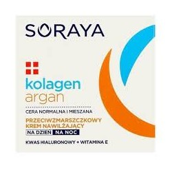 SORAYA Kolagen+Argan // Nawilzajacy krem przeciwzmarszczkowy na dzien i na noc // Kwas hialuronowy