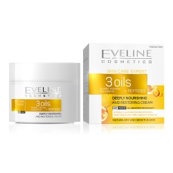 Eveline Skin Care Expert 3 Oils // Deeply Nourishing and Restoring Cream // Day/Night // mature, dry and sensitive skin