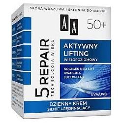 5 REPAIR Aktywny Lifting 50+ // Nocny Krem Odzywczo-Regenerujacy // skora wrazliwa sklonna do alergii