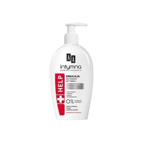 AA intymna HELP // Emulsja do higieny intymnej // Ochrona przed infekcjami, lagodzenie // 0% prabenow, barwnikow