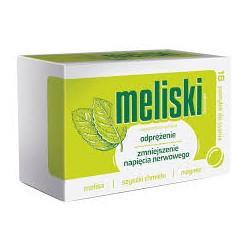 MELISKI VITA // Skladniki produktu wspomagaja: uspokojenie,zasypianie // melisa+szyszki chmielu+magnez // 18 pastylek do ssania