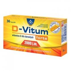 D - VITUM forte // Witamina D dla Doroslych 2000 j.m. // w leju lnianym // niedobory witaminy D