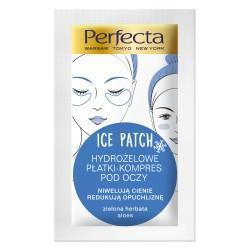Perfecta Beauty ICE PATCH Czarna i zielona herbata // Hydrozelowe platki kompres pod oczy / Przeciw cieniom i opuchliznie
