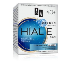AA HIAL E CAPS 40+ // Tlenowy Krem na Dzien // Cera Wygladzona i Pelna Energii // aktywny tlen, 5 form kwasu HA, witamina E
