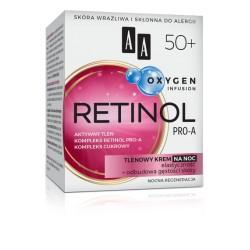 AA Oxygen Infusion RETINOL PRO-A 50+ // Tlenowy Krem na Noc // Elastycznosc + Odbudowa gestosci skory
