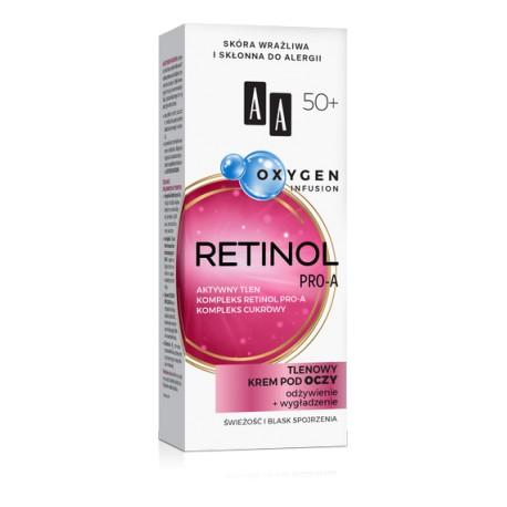 AA Oxygen Infusion RETINOL PRO-A 50+ // Tlenowy Krem pod Oczy // odzywienie + wygladzenie