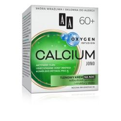 AA Oxygen Infusion CALCIUM JONO 60+ // Tlenowy Krem na Noc // odbudowa gestosci i struktury skory