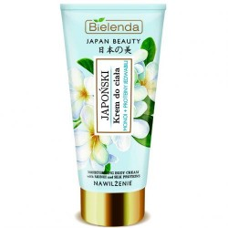 Bielenda JAPAN BEAUTY // Japonski Krem do Ciala // monoi + proteiny jedwabiu // nawilzenie // 200ml