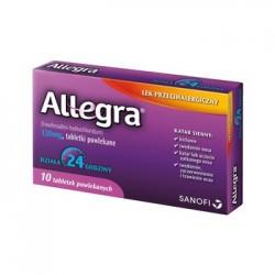 ALLEGRA // Lek Przeciwalergiczny // katar sienny - dziala 24 godziny // 10 tabletek powlekanych