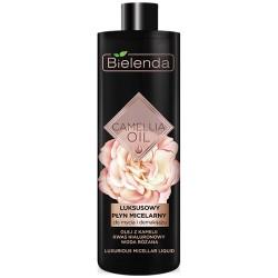 Bielenda CAMELLIA OIL // Luksusowy Plyn Micelarny do mycia i demakijazu // olej z kamelii, kwas hialuronowy, woda rozana