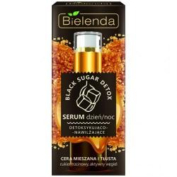 Bielenda BLACK SUGAR DETOX // Serum dzien/noc Detoksykujaco-Nawilzajace // cera mieszana i tlusta // aktywny wegiel