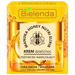 Bielenda MANUKA HONEY // Krem dzien/noc Odzywczo-Nawilzajacy // cera sucha i wrazliwa // miod, mleczko pszczele