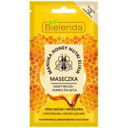 Bielenda MANUKA HONEY // Maseczka Odzywczo-Nawilzajaca // cera sucha i wrazliwa // miod, mleczko pszczele