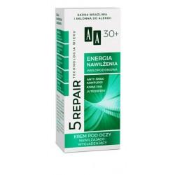 AA 5 REPAIR 30+ Energia Nawilzenia // Krem Pod Oczy Nawilzajaco-Wygladzajacy // skora wrazliwa, sklonna do alergii