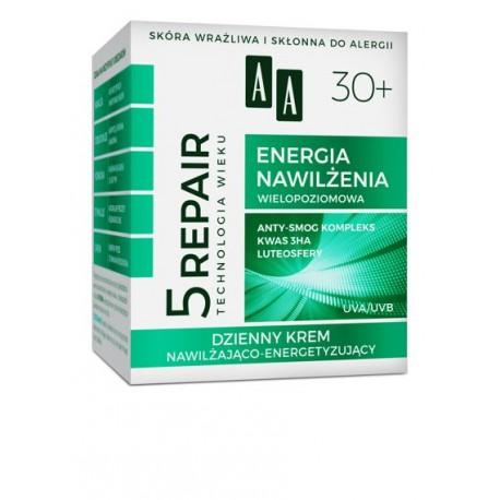 AA 5 REPAIR 30+ Energia Nawilzenia // Dzienny Krem Nawilzajaco-Energetyzujacy // UVA, UVB // skora wrazliwa, alergiczna