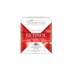 Bielenda Neuro Retinol 50+ / Liftingujacy KREM- koncentrat przeciwzmarszczkowy dzien/noc / 95% zaawansowany lifting